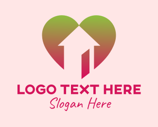 Stay At Home - Family Home Love logo design