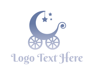 Sleep - Baby Carriage logo design