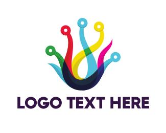 Octopus - Circuit Tentacles logo design