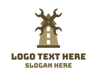 Mill - Wrench Mill logo design