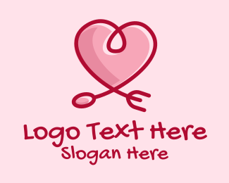 Romantic - Romantic Heart Restaurant  logo design