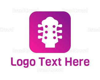 Mobile Phone - Guitar App logo design