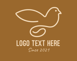 Bird - Coffee Bean Dove  logo design