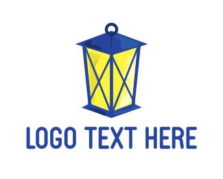 Camper - Blue Lantern logo design