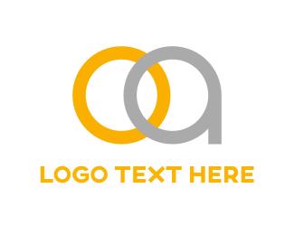 Letter O - O & A logo design