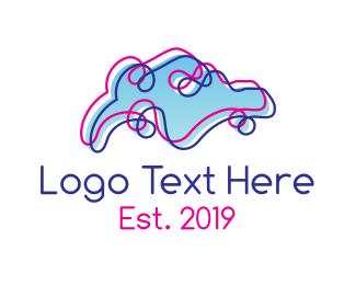 Asia - Artistic Singapore Outline logo design