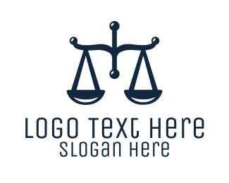 Attorney Legal Law Firm Scales Logo Maker