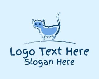 Cat Food - Blue Cat Doodle  logo design