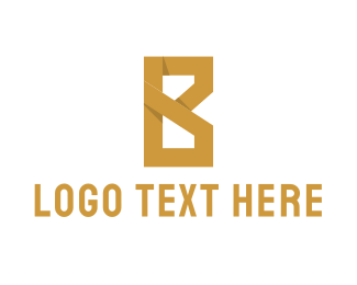 Luxury - Golden Letter B logo design
