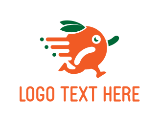 Citric - Orange Runner logo design