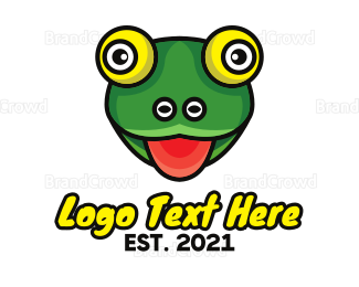Fairy Tale - Hungry Frog Outline logo design
