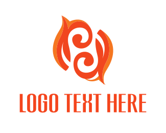 Dynamic - Twirl Flame logo design