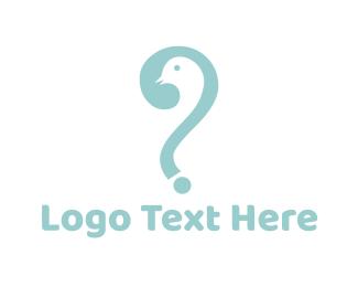 Question Mark - Bird Question logo design