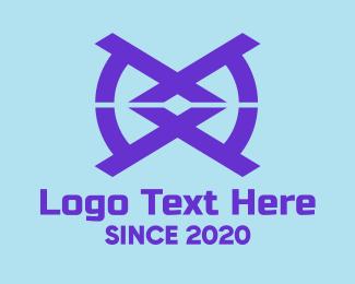 Bohemian - Blue Tech Symbol logo design