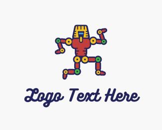 Mechanical - Egyptian Robot logo design