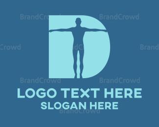 Body - Body Letter D logo design