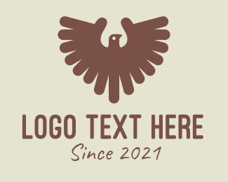 Vulture - Brown Hawk Brid logo design