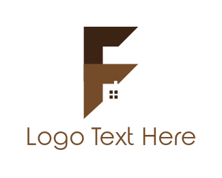 Letter F - Window Letter F logo design