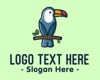 Jungle Animal - Tropical Toucan Bird logo design