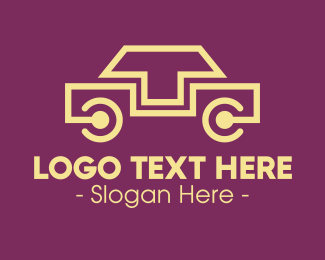 Limousine - Yellow Car Connection logo design