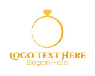 Wedding - Minimalist Wedding Ring logo design
