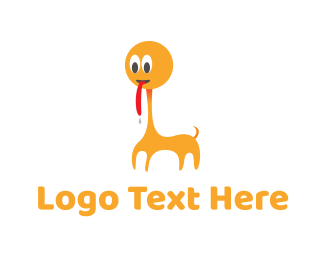 Tongue - Orange Animal Cartoon logo design
