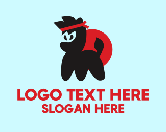 Pet Accessories - Ninja Dog logo design