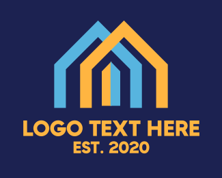 Perform - Blue & Orange Houses  logo design