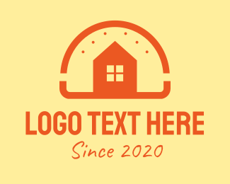 American Restaurant - Orange Burger House  logo design