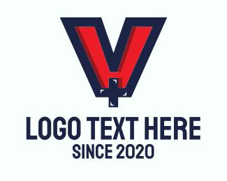 Sick - Medical Letter V logo design