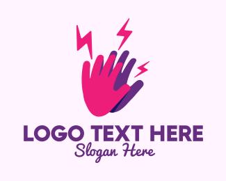 Friends - Lightning High Five logo design