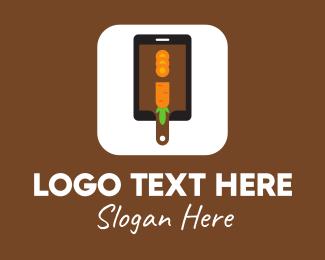 Food Market - Carrot Chopping Board App logo design