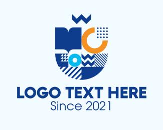Book Club - Geometric Book Publishing logo design