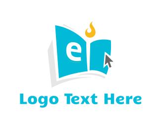 Cursor - Digital eBook logo design