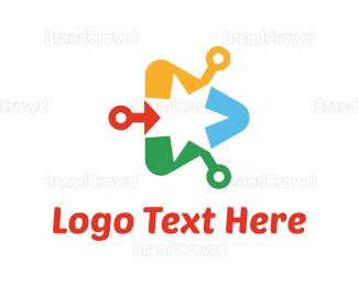 Video Player - Media Star logo design