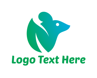 Mouse - Green Mouse logo design