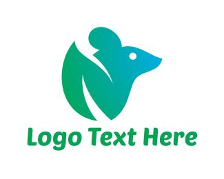 Rat - Green Mouse logo design