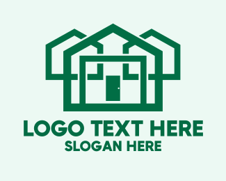 Appartment - Eco Friendly House Construction logo design