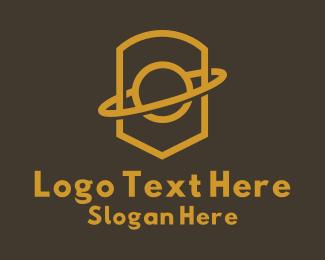 Golden - Golden Planet Crest logo design