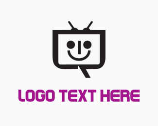Smiling - Happy  Robot  logo design