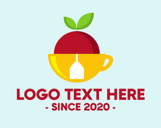 Tea - Apple Tea logo design