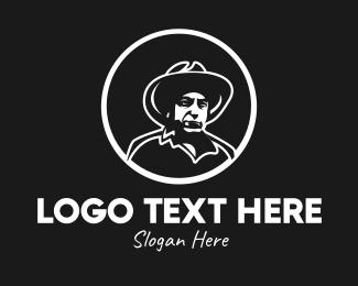 Uncle - Rustic Cowboy Guy logo design