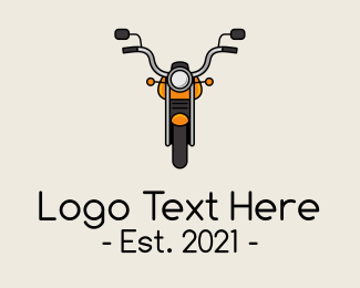 Motorbike - Orange Motorbike logo design