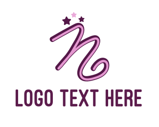 Acting - Star Letter N logo design