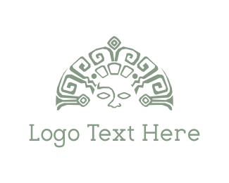 Culture - Mayan Face logo design