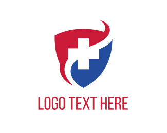 Healthcare - Cross Shield logo design