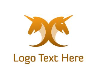 Pegasus - Yellow Unicorns logo design