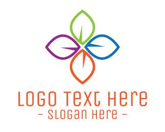 Multicolor - Multicolor Leaves logo design