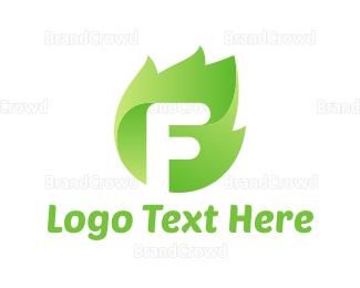 Eco Energy - Leaf Letter logo design