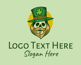 """Lucky Skull Leprechaun Mascot"" by town"